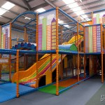 The magnificent soft climbing area. This is a complete exercise centre for kids. Just getting to the top to use a slide requires a considerable effort.